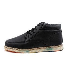 Colored Sole Lace-Up Men's Casual Shoes
