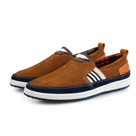 Suede Thread Slip-On Boat Shoes