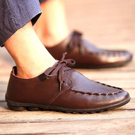 Thread PU Lace-Up Men's Casual Shoes