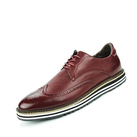 British Round Toe Lace-Up Men's Brogue Shoes