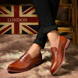 England Embossed PU Casual Shoes