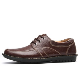 PU Thread Lace-Up Front Men's Casual Shoes