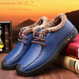 Breathable Thread Lace-Up Causal Shoes