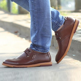 Breathable Lace-Up Front Men's Casual Shoes