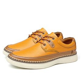 British PU Thread Lace-Up Men's Casual Shoes