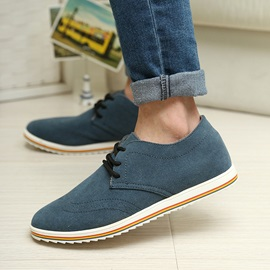 Suede Round Toe Wingtip Casual Shoes