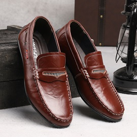 Breathable PU Thread Slip-On Driving Shoes