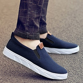 British Solid Color Suede Slip-On Loafers