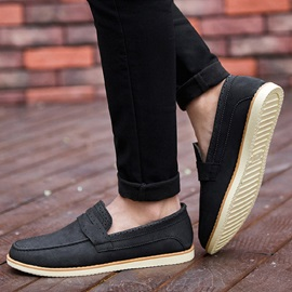 PU Thread Slip-On Men's Casual Shoes