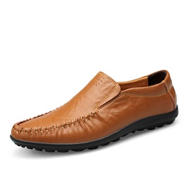 PU Ruched Slip-On Men's Loafers