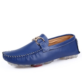 Solid Color PU Slip-On Driving Shoes