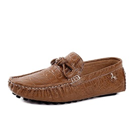 Embossed PU Slip-On Men's Loafers