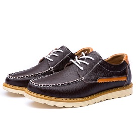 Round Toe Lace-Up Casual Shoes