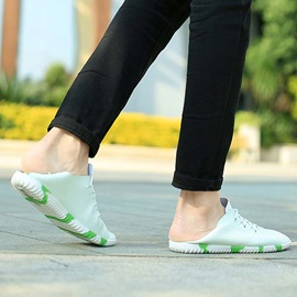 PU Colored Sole Lace-Up Casual Shoes