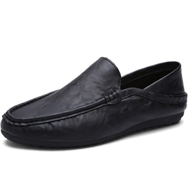 Solid Color PU Slip-On Men's Loafers