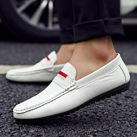 PU Striped Slip-On Men's Loafers