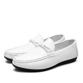 Solid Color PU Low-Cut Loafers