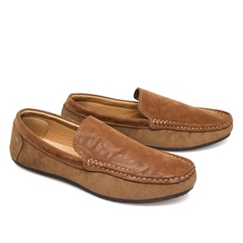 British Suede Slip-On Loafers
