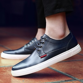 Fashion PU Lace-Up Casual Shoes