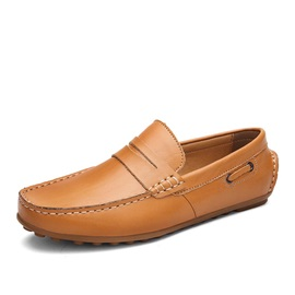 Breathable PU Thread Slip-On Loafers