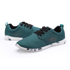 Breathable Mesh Lace-Up Sneakers