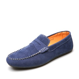 Solid Color Suede Driving Shoes