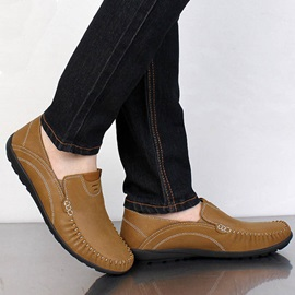 Breathable PU Thread Slip-On Loafers for Men