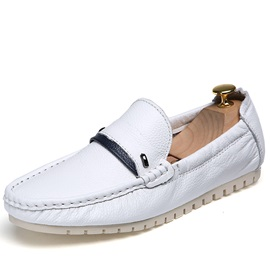 PU Thread Slip-On Driving Shoes
