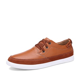 Suede Patchwork Lace-Up Skater Shoes