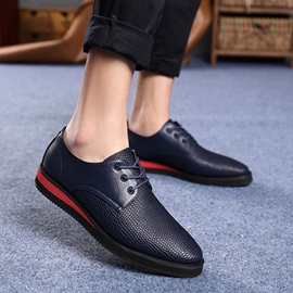 Embossed PU Plain Toe Casual Shoes