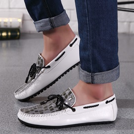 Breathable Embossed PU Slip-On Driving Shoes