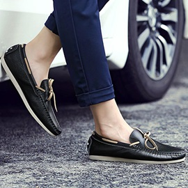 British PU Slip-On Driving Shoes