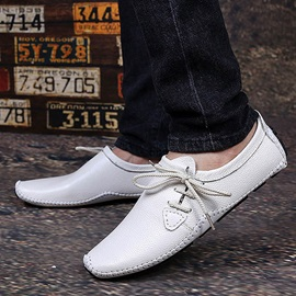 Cozy PU Thread Slip-On Loafers