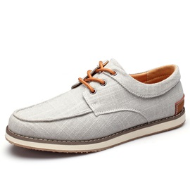 Fashion Round Toe Lace-Up Boat Shoes