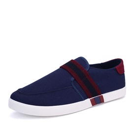 Striped Round Toe Canvas Shoes