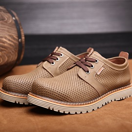 British Fashion Hollow Round Toe Casual Shoes