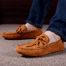 Breathable Suede Slip-On Driving Shoes