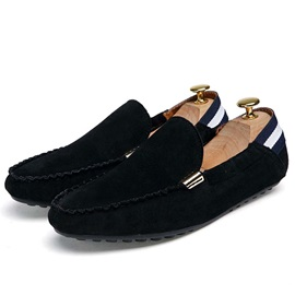 Solid Color Suede Slip-On Driving Shoes