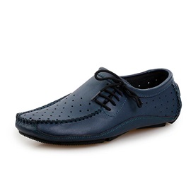 Solid Color PU Hollow Driving Shoes