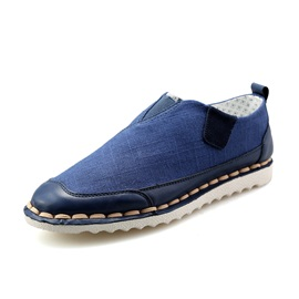 Round Toe Thread Slip-On Canvas Shoes