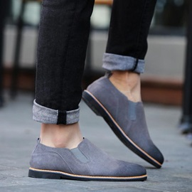 Gradient Color Round Toe Casual Shoes For Men