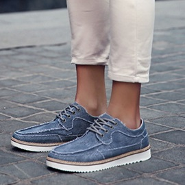 Breathable Lace-Up Canvas Shoes