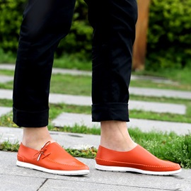 PU Thread Low-Cut Loafers