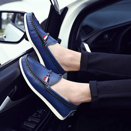 British PU Thread Driving Shoes