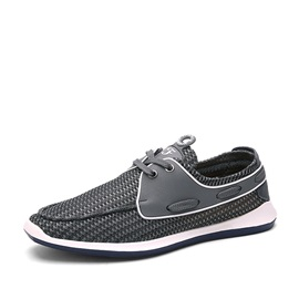 Mesh Lace-Up Casual Shoes