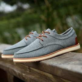 Solid Color Cloth Lace-Up Casual Shoes