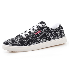 Letters Printed Lace-Up Skater Shoes