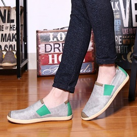 Breathable PU Patchwork Loafers
