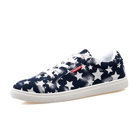 Stars Printed Lace-Up Canvas Shoes