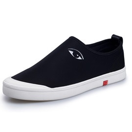 Eyes Printed Slip-On Canvas Shoes for Men